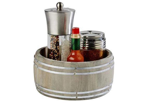 APS Table Caddy Country Style d;17.5 cm h:8.5 cm braun