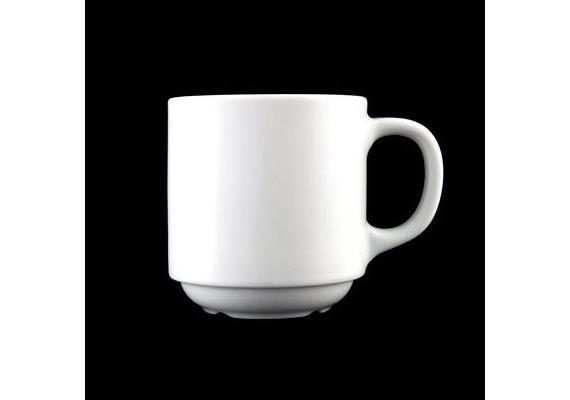 City Mug stapelbar 30cl uni weiss