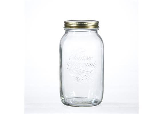 Einmachglas Quattro Stagioni, m Deckel, 1,5 lt
