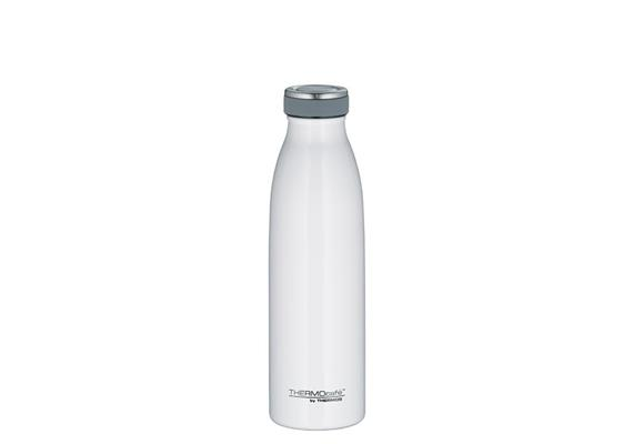 Isolier-Trinkflasche Edelstahl weiss 0.5l