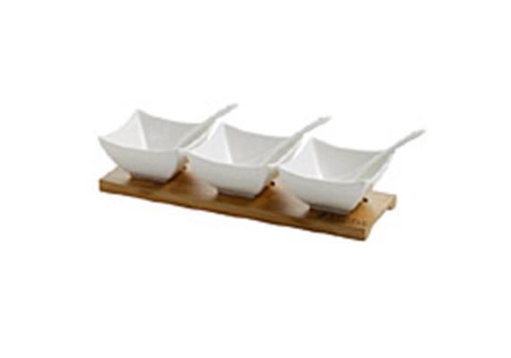 Salsa Set 7-tlg Bamboo,L28cm, B9cm, H6cm