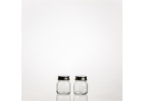 Salz+Pfefferstreuer Quattro Stagiono 15cl 2er Pack