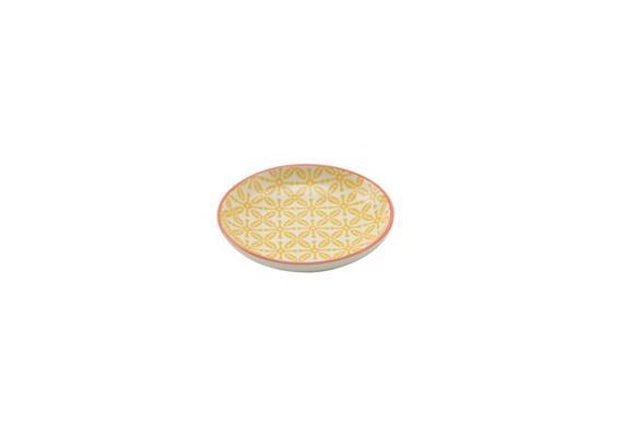 Schale gelb 10cm Rand rot