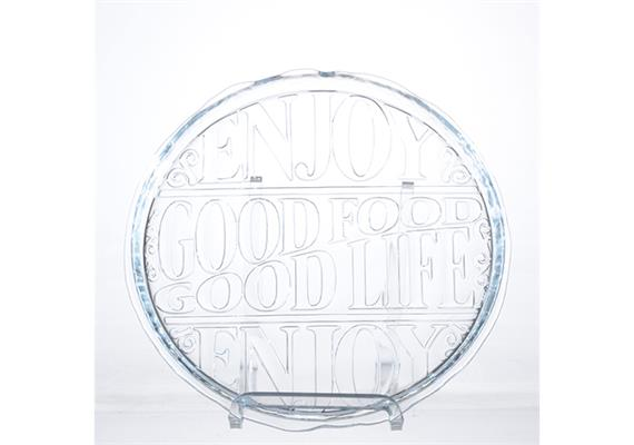 "Teller flach ""Good Food"" 29cm"