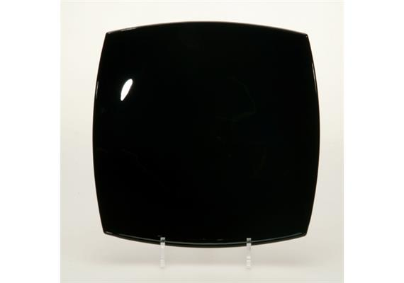 Teller flach Quadrato, schwarz, 26 cm