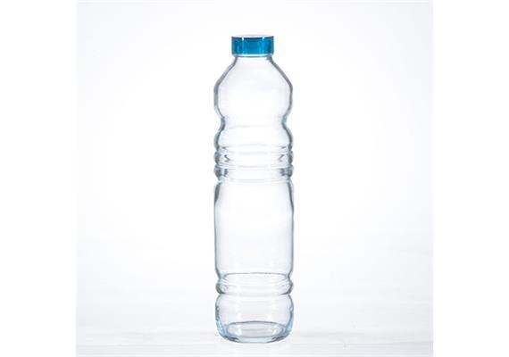 Wasserflasche mit blauem Deckel Vita 1.1l